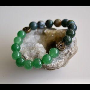 Jewelry - Aventurine and Fancy Jasper iChing Mala Bracelet